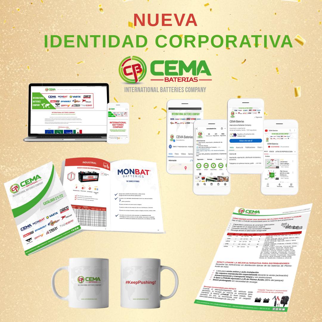 nueva identidad corporativa CEMA Baterías
