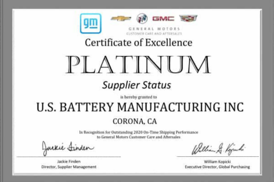 US recibe el premio platino a la rapidez en entregas