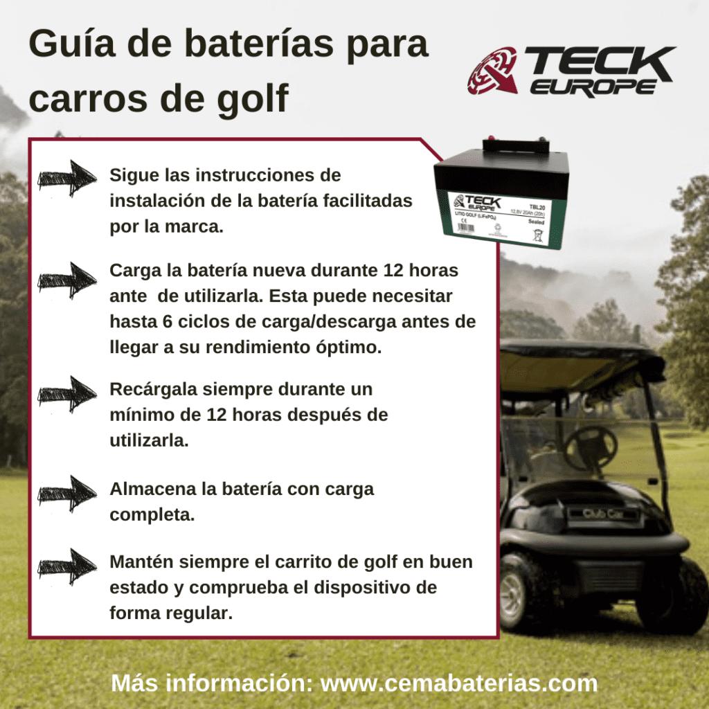 Guía para baterías de carros de golf-Teck Europe