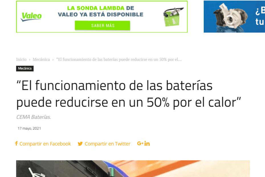 La comunidad del taller- consejos CEMA Baterías