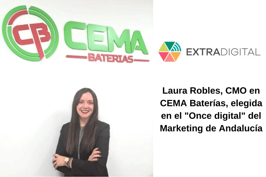 Laura Robles, CMO en CEMA Baterías, elegida en el Once Digital del Marketing de Andalucía