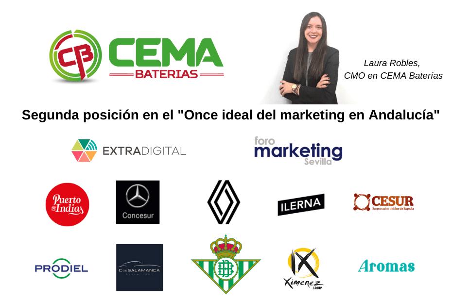 Laura Robles, CMO en CEMA Baterías, logra la segunda posición en el Once Ideal del marketing de Andalucía