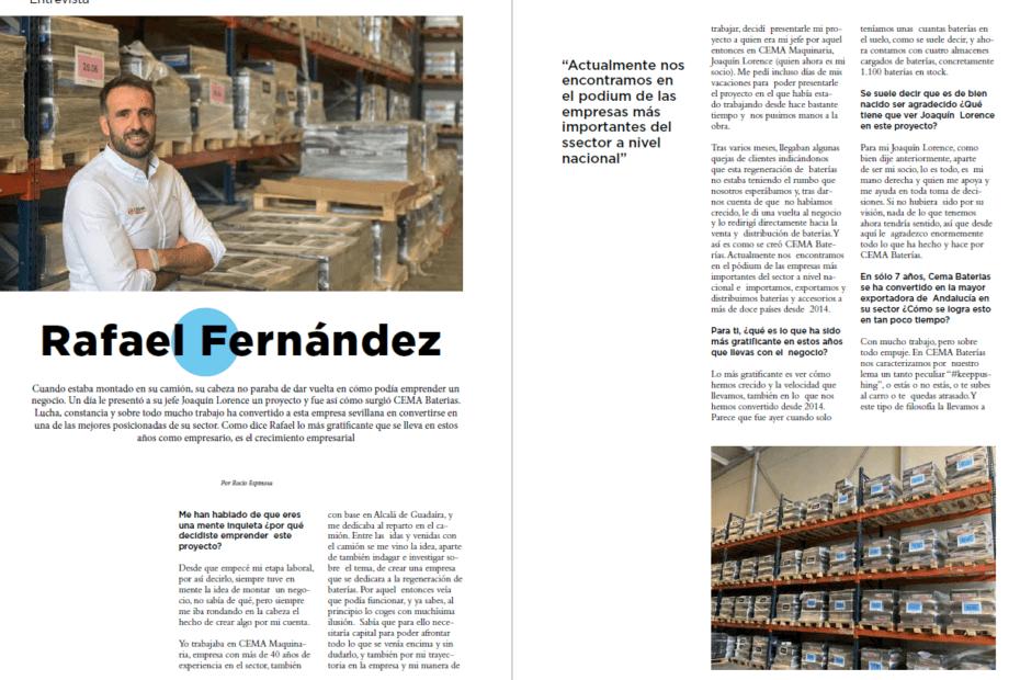 Entrevista Rafa en PYMES Magazine septiembre 2021
